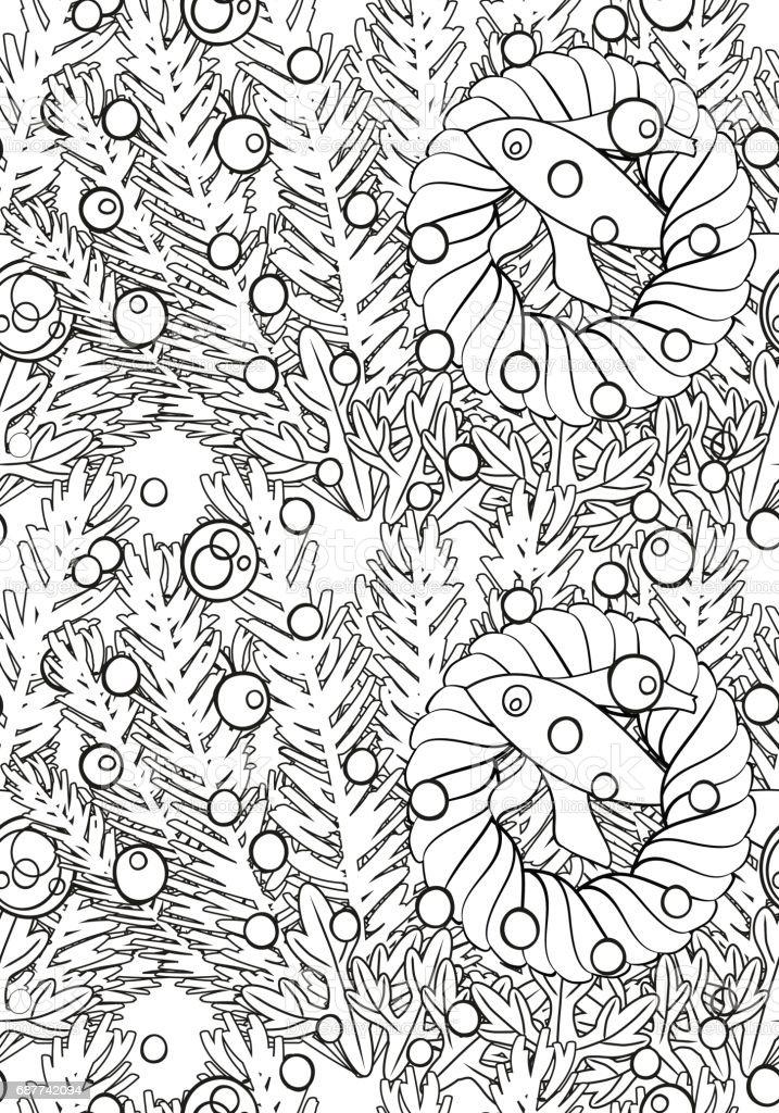 Ilustración de Patrón Transparente Vector Blanco Y Negro Para Adulto ...