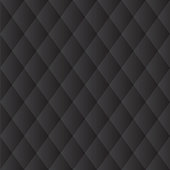 Seamless Black Diamond Padded Panel Diagonal