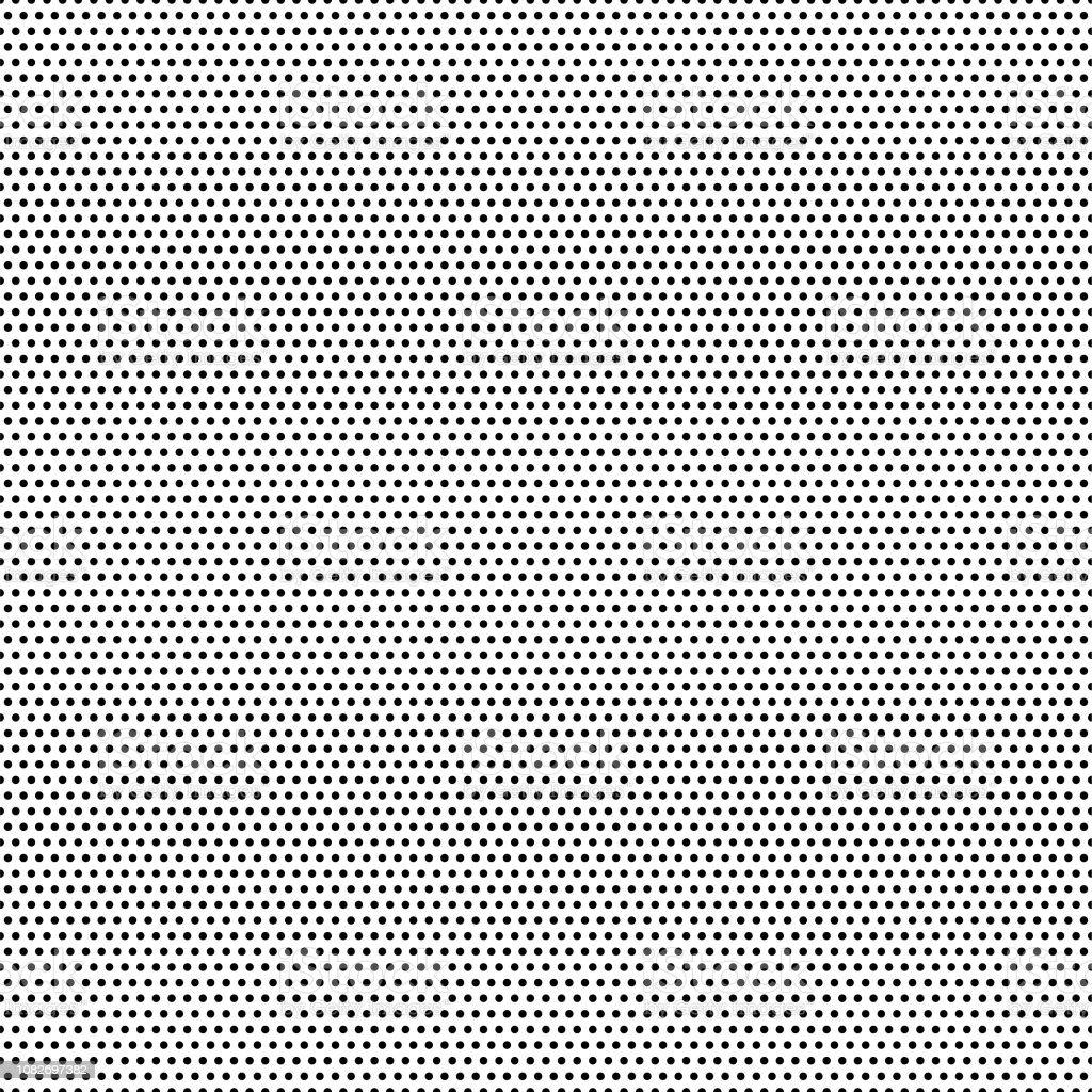 Sömlös svarta prickar - vit bakgrund - vektor Illustration - Royaltyfri Abstrakt vektorgrafik