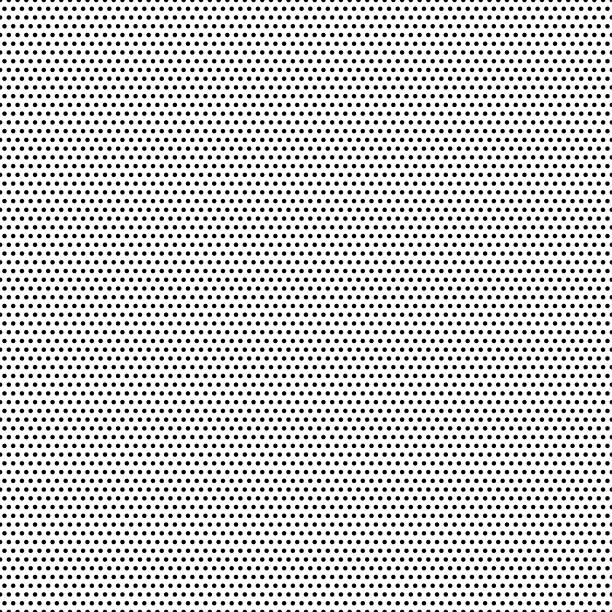 seamless black dots - white background - vector illustration - spotted stock illustrations
