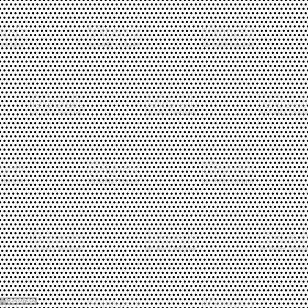 Sömlös Svarta Prickar Vit Bakgrund Vektor Illustration-vektorgrafik och fler bilder på Abstrakt