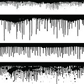 Seamless black paint drips