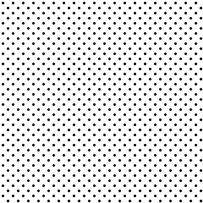 Seamless black polka dot on white background