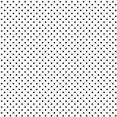 Seamless black polka dot on white background