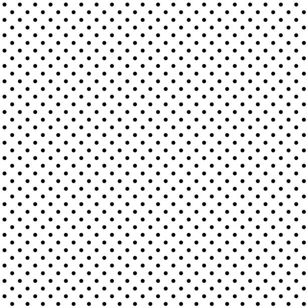 seamless black polka dot on white background - spotted stock illustrations