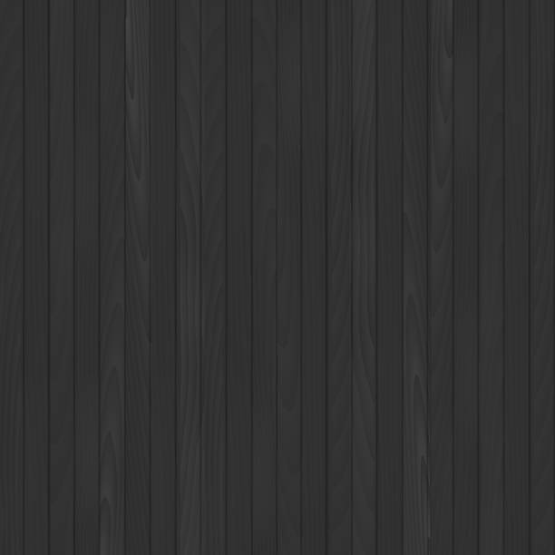 Seamless black wooden background. Vector. vector art illustration
