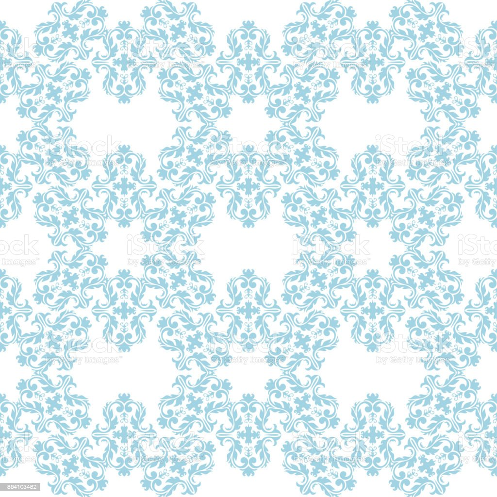 Seamless blue and white pattern with wallpaper ornaments royalty-free seamless blue and white pattern with wallpaper ornaments stock vector art & more images of abstract