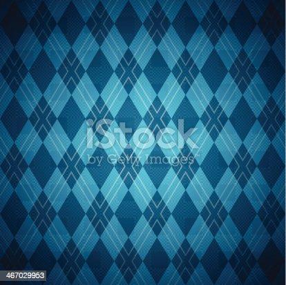 istock Seamless Blue Argyle Pattern 467029953