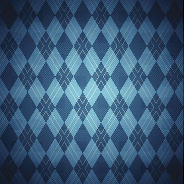 Seamless Blue Argyle Pattern Blue seamless argyle pattern with space for text. EPS 10 file. Transparency effects used on highlight elements. tartan pattern stock illustrations