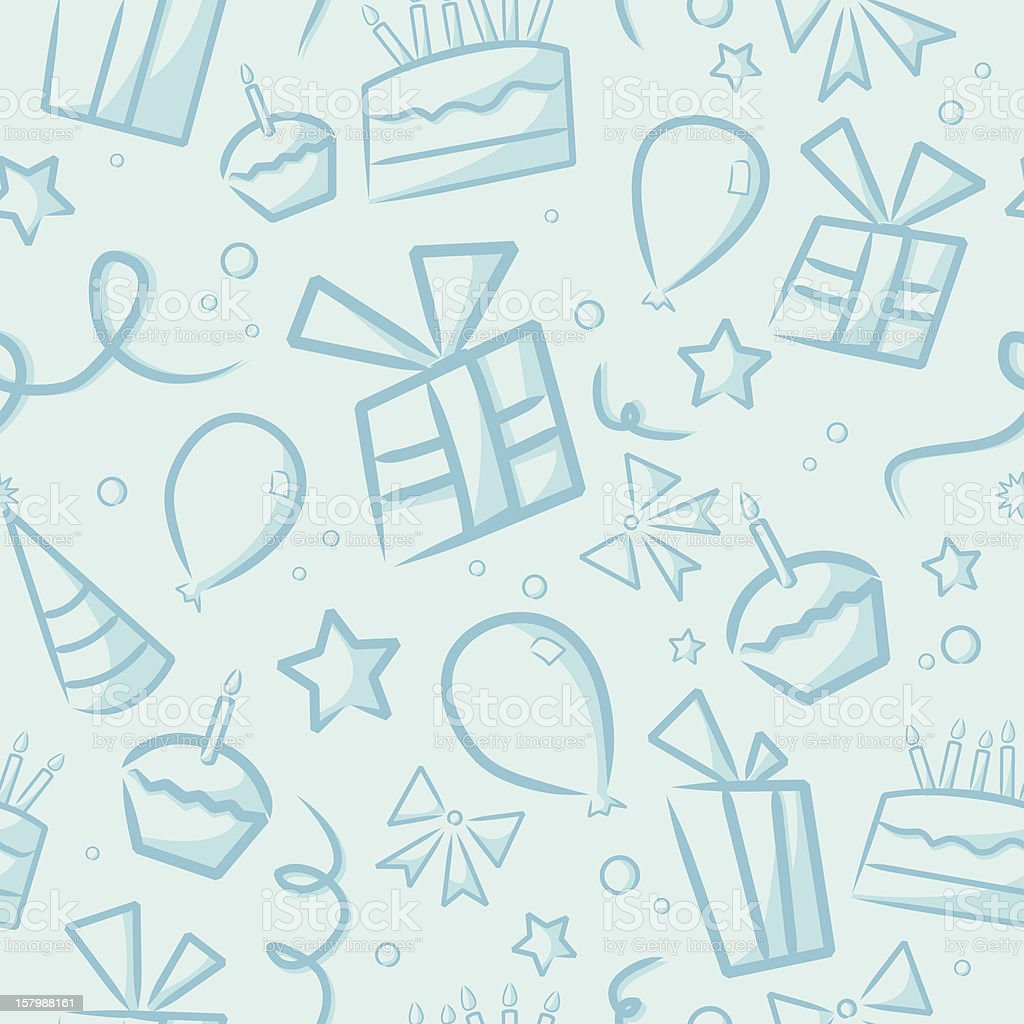 seamless blue birthday background stock vector art amp more