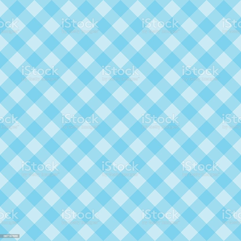 seamless blue checkered pattern vector art illustration