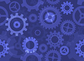 gears seamless background pattern