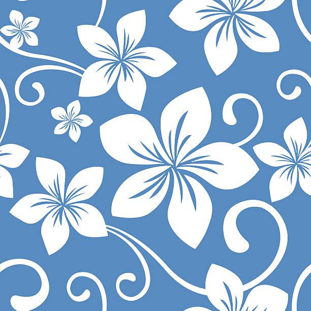 Seamless Blue Hawaii Pattern vector art illustration