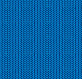 Vector Illustration of a beautiful Seamless Blue Knitted Background