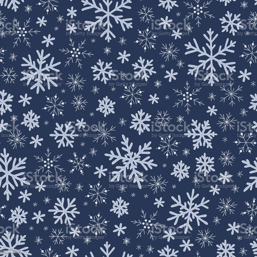 Seamless blue pattern with snowflakes royalty-free seamless blue pattern with snowflakes stock vector art & more images of abstract