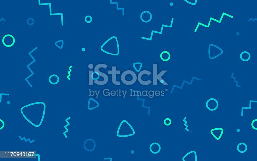 istock Seamless Blue Retro Background Abstract 1170940167