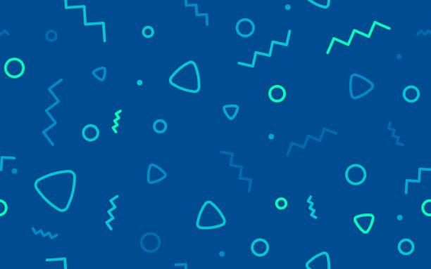 illustrazioni stock, clip art, cartoni animati e icone di tendenza di seamless blue retro background abstract - zigzag