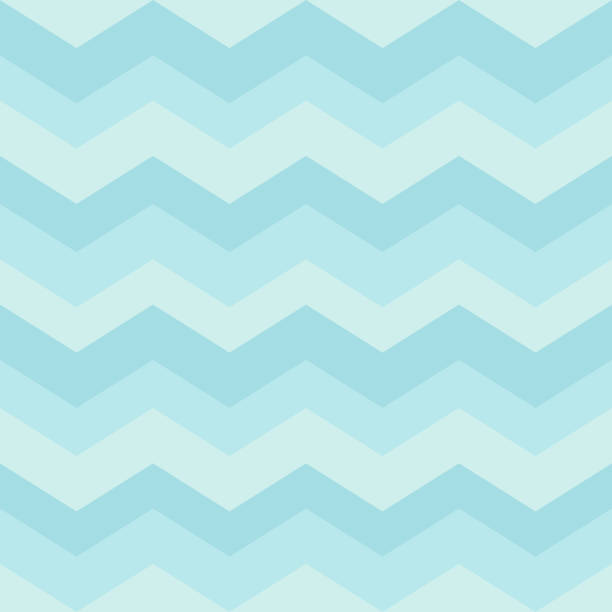 seamless blue zigzag pattern. waves background for children's bedroom, kids nursery, cloth, textile, fabric, wrapping. vector illustration. - chłopcy stock illustrations