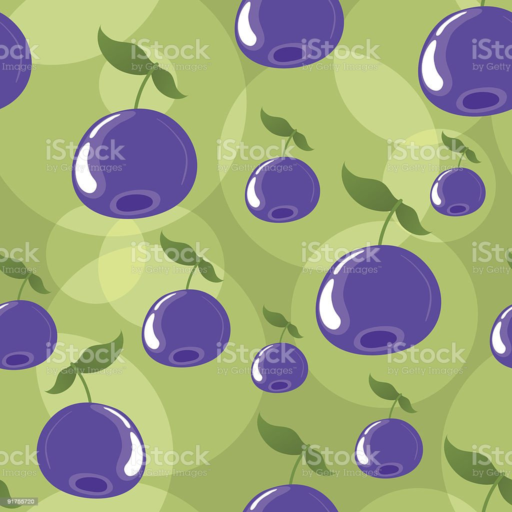 Seamless blueberries background royalty-free stock vector art