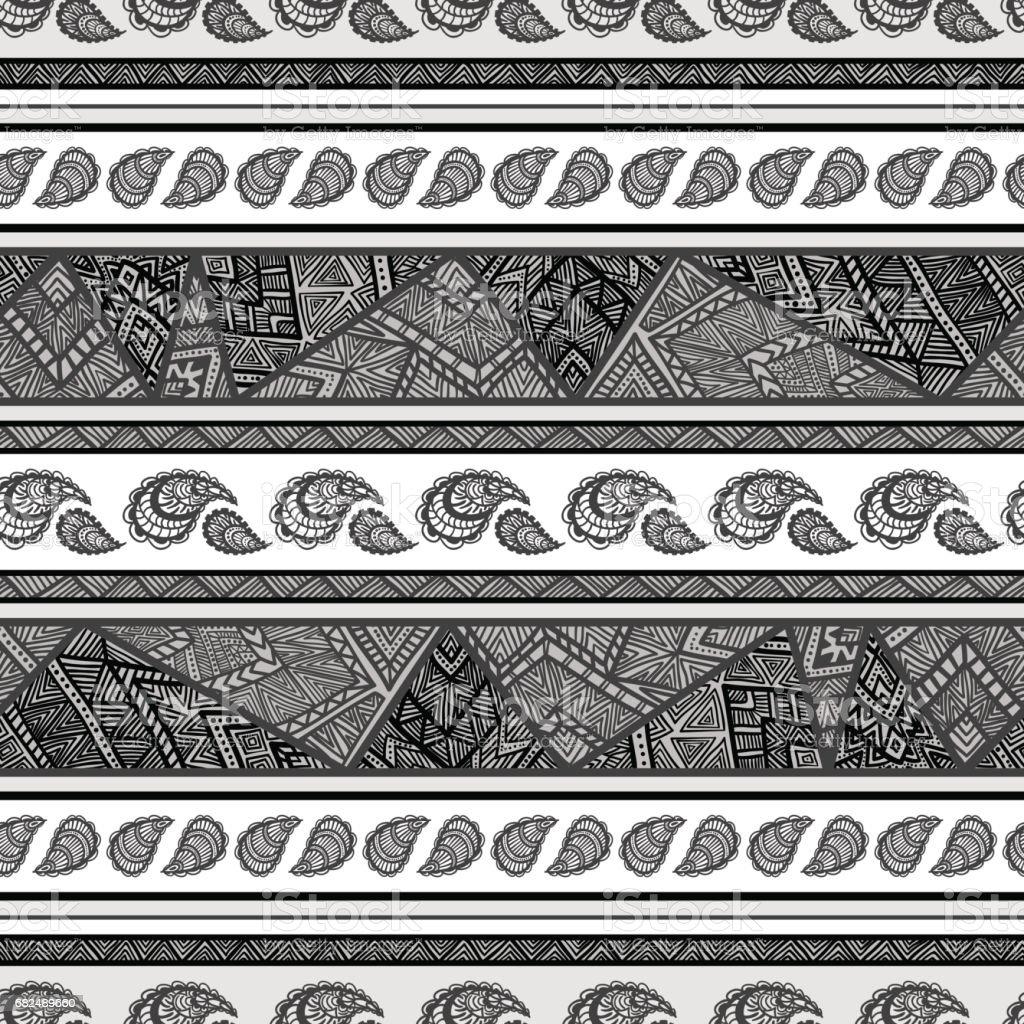 Seamless bohemian background in shades of gray. seamless bohemian background in shades of gray — стоковая векторная графика и другие изображения на тему Абстрактный Стоковая фотография
