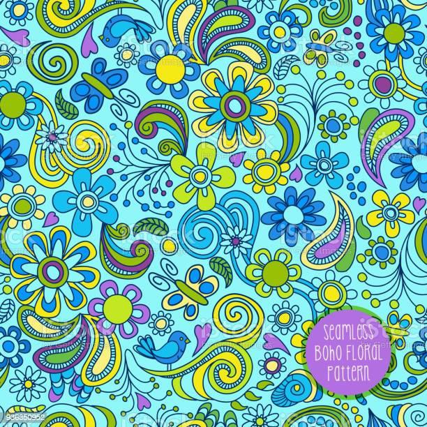 Seamless boho floral pattern vector id936350952?b=1&k=6&m=936350952&s=612x612&h=a kztmwiap11zn4nvx40ujdpb7us6ctknqjczos9hc0=