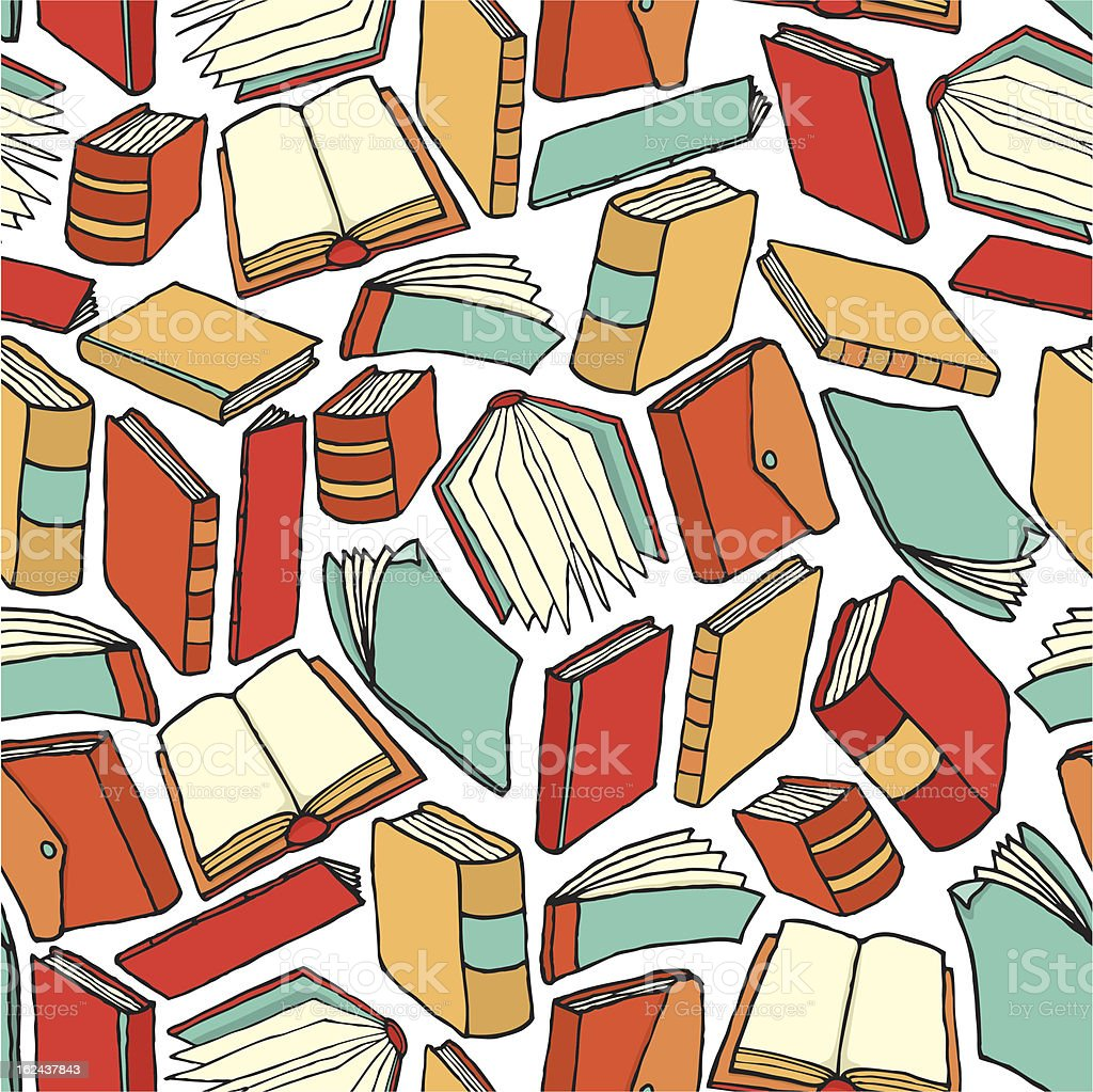 Seamless book pattern / Background wallpaper vector art illustration