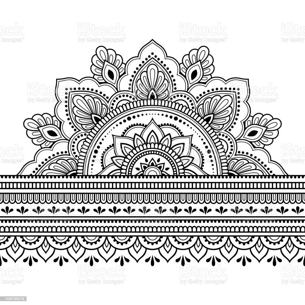 Ilustración De Fronteras Con Mandala Para El Diseño La Aplicación De