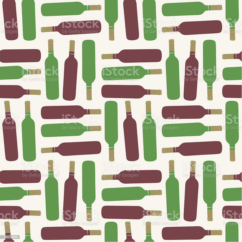 Seamless bottle pattern royalty-free stock vector art