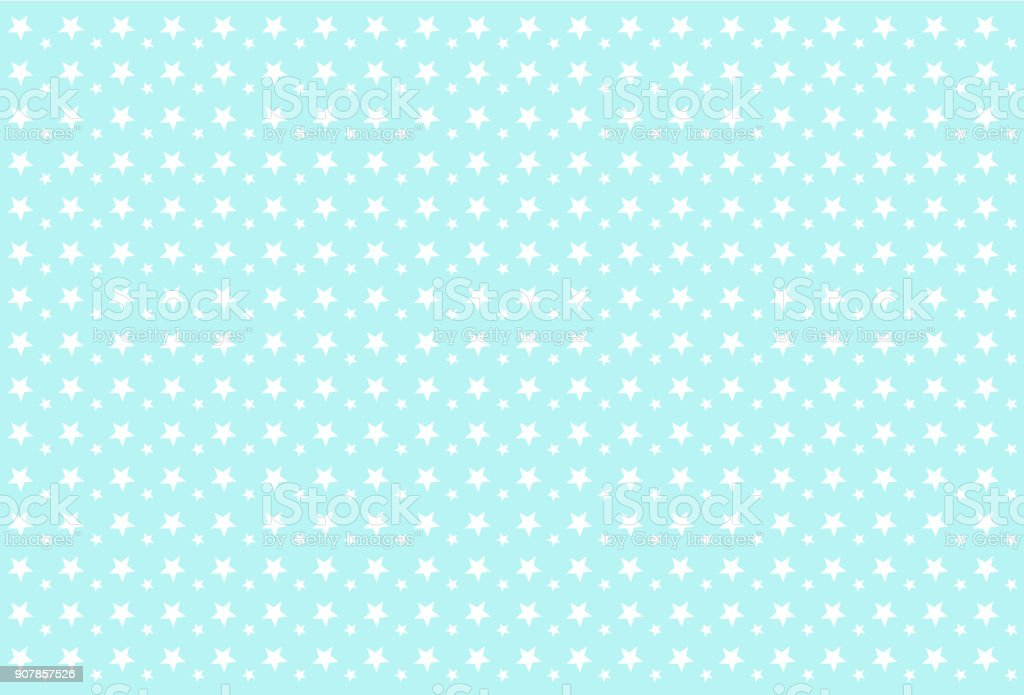 Seamless Boyish Pattern White Stars On Blue Background Stock Vector