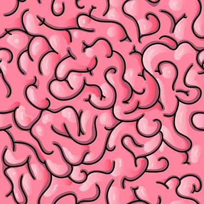 Seamless Brain Pattern Stock Illustration - Download Image Now