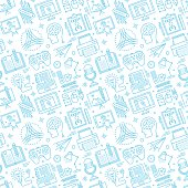 Seamless pattern background vector illustration for brainstorming compositions.