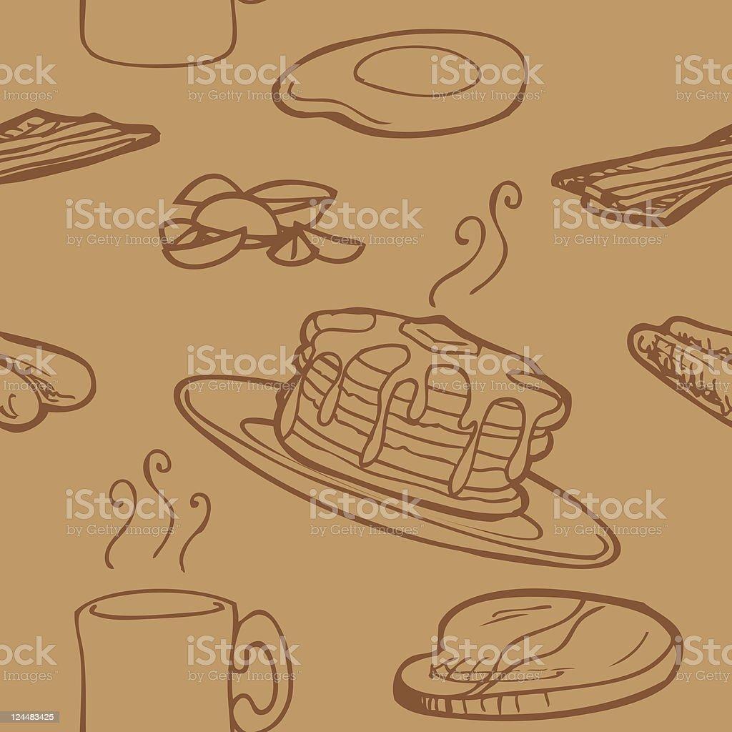 Seamless Breakfast Background vector art illustration