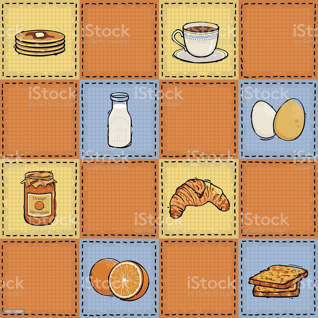 Seamless Breakfast Pattern royalty-free stock vector art