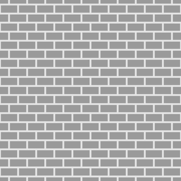 Seamless brick pattern vector art illustration