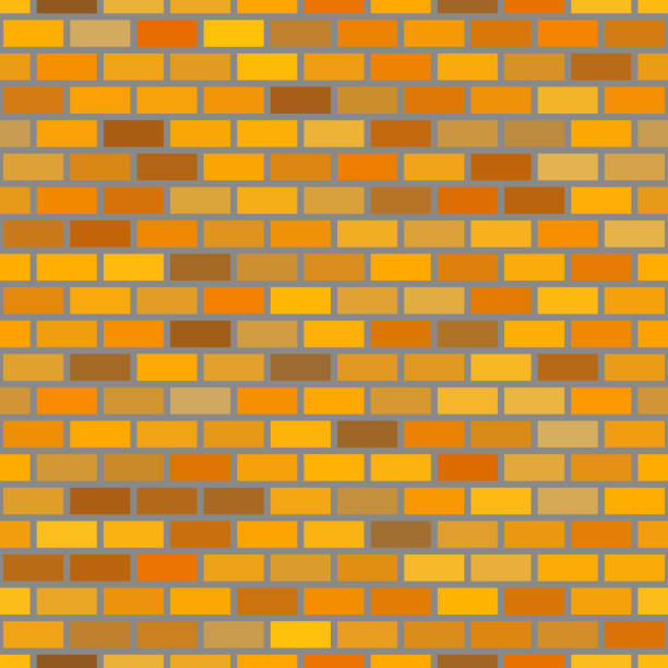 Seamless brick pattern vector art illustration