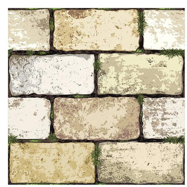 stockillustraties, clipart, cartoons en iconen met seamless brick wall background - versterkte muur