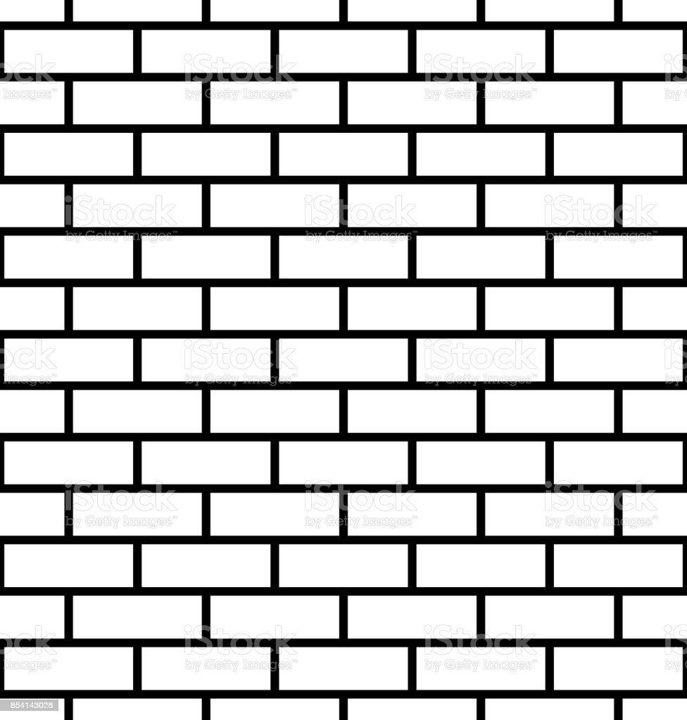 Seamless brick wall background vector art illustration