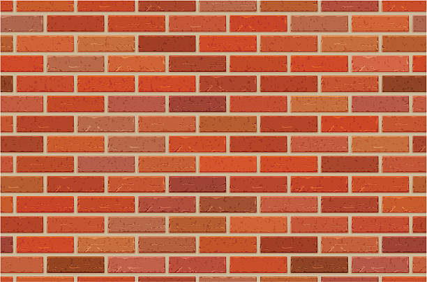 Seamless brick wall pattern vector art illustration