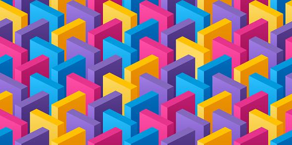 Seamless Bricks Background Pattern