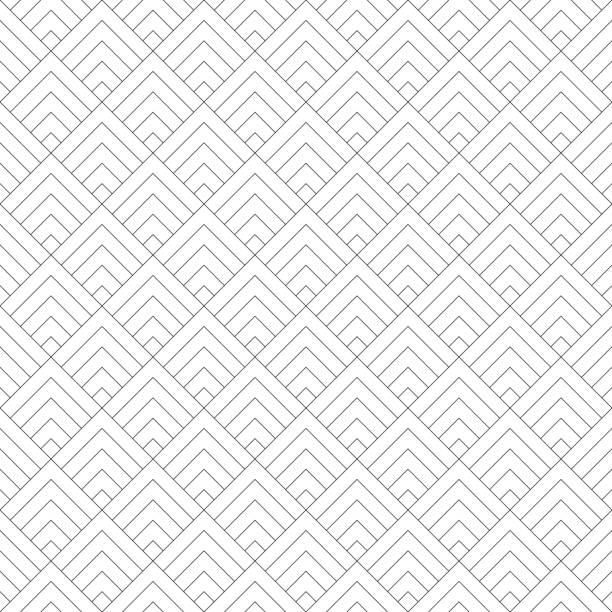 der nahtlose helle geometrische vektorhintergrund. - rankgitter stock-grafiken, -clipart, -cartoons und -symbole