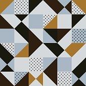 seamless brown geometric pattern