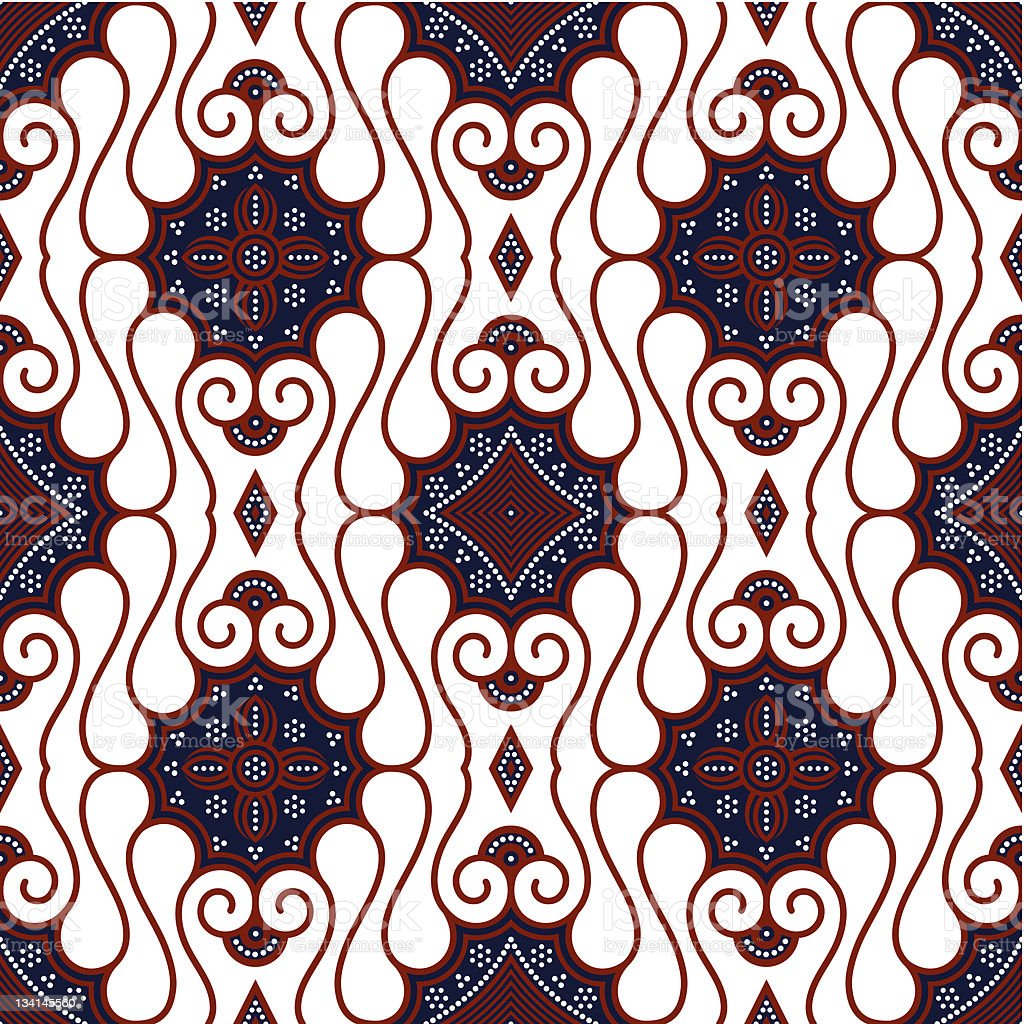Seamless Brown White Batik Background Stock Illustration