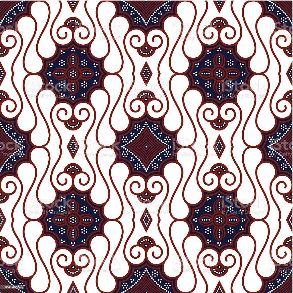 Seamless Brown White Batik Background vector art illustration
