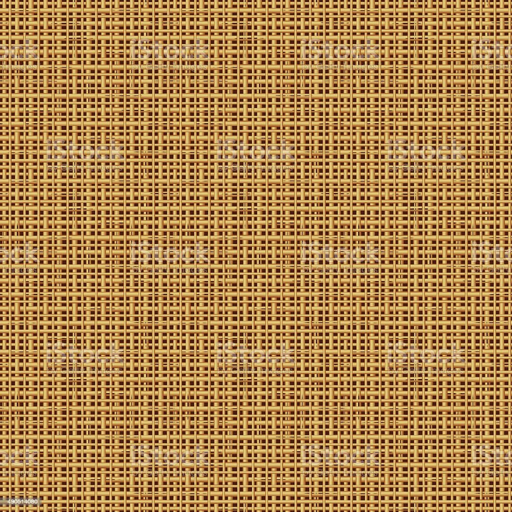 Seamless burlap or canvas texture background, or repeat pattern vector art illustration