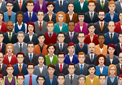 Business people stock illustrations