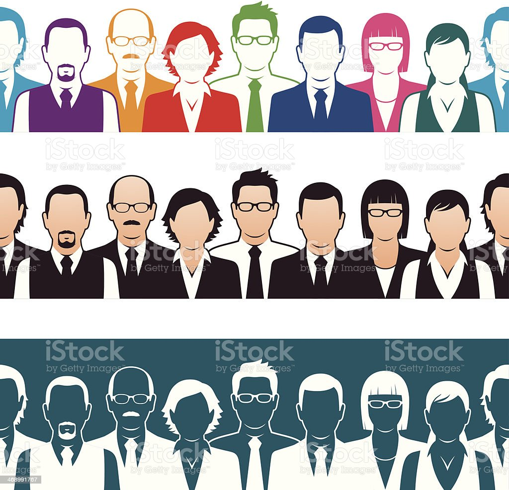 Seamless Business People vector art illustration