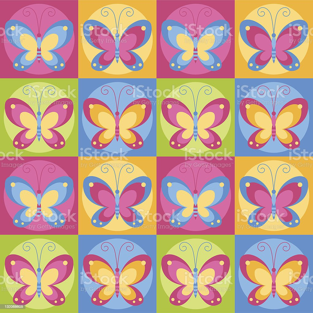 Seamless butterflies background royalty-free stock vector art