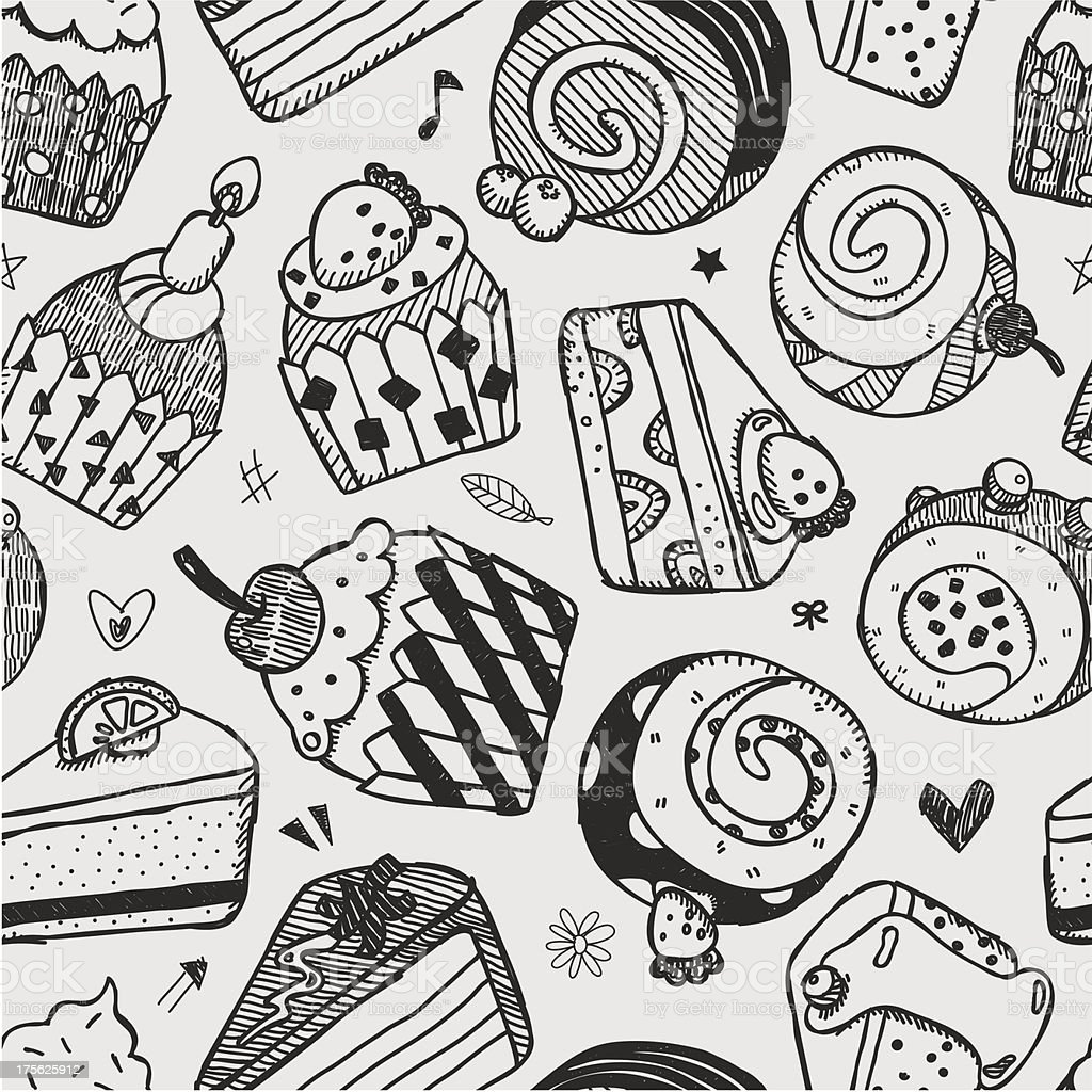 seamless cake pattern royalty-free seamless cake pattern stock vector art & more images of anniversary