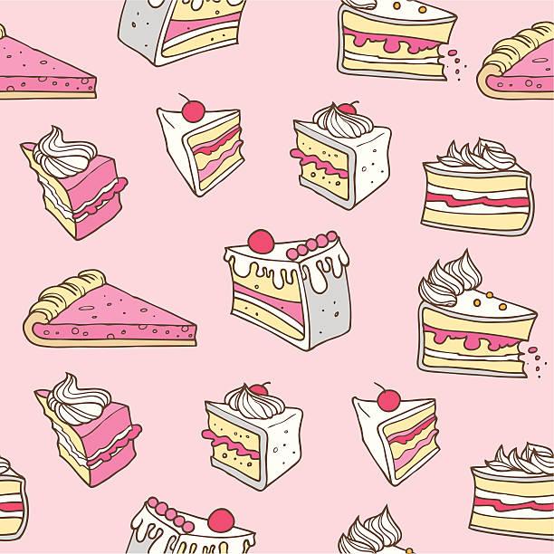 nahtlose kuchen - scheibe portion stock-grafiken, -clipart, -cartoons und -symbole