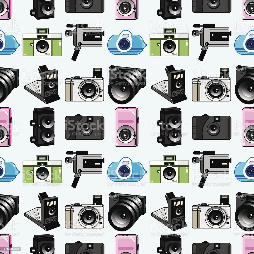 seamless camera pattern royalty-free seamless camera pattern stock vector art & more images of acting